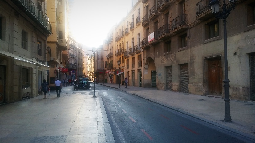 Alicante city street view