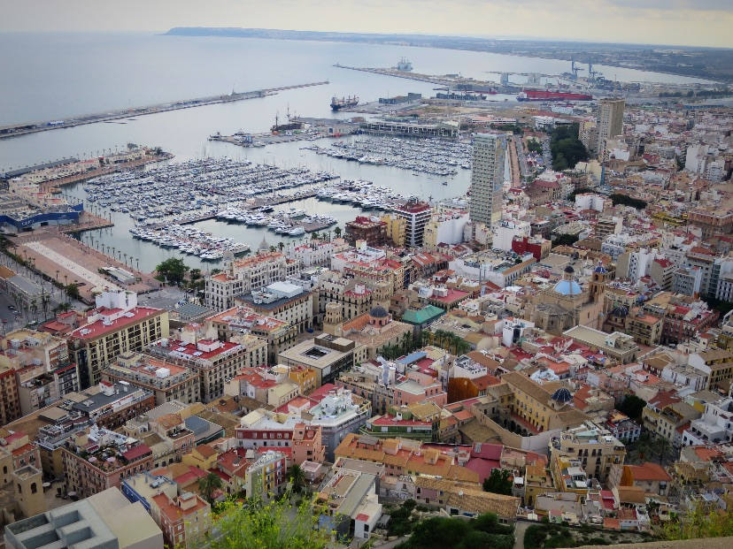 Alicante view from Santa Barbara