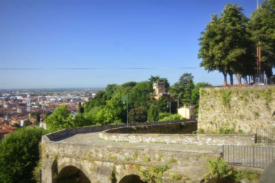 Bergamo ancient city wall