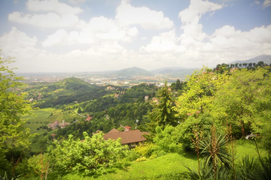 Bergamo view from hill