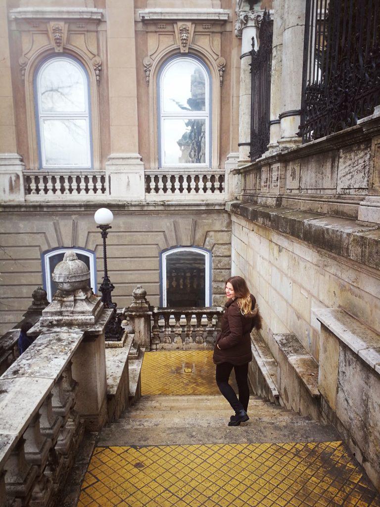 Buda Castle Staircase Budapest